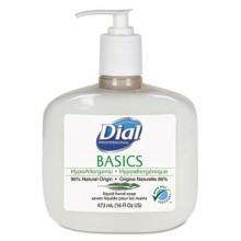DIAL 06044 Pure & Natural Soap 12/16oz Pump Bottles Per Case