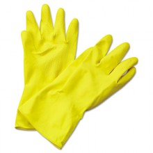 BWK 242XL Yellow Flocked Rubber Gloves Extra-Large Per Dozen