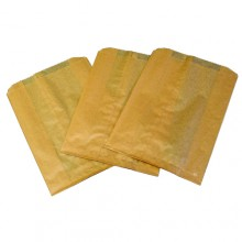HOS 260 7.5W x 3.5D x 10.25H Waxed Sanitary Waste Receptacle Liners 500 Bags Per Case