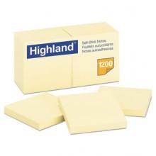 MMM 654924PK Self-Stick Note Pads 3 x 3 Yellow 100 Sheets 24 Paks Per Case