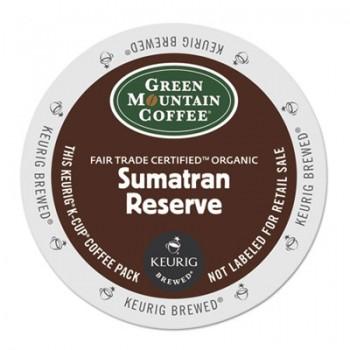 GMT 4060 Keurig K-Cups Green Mountain Organic Sumatran Coffee 24 Per Box