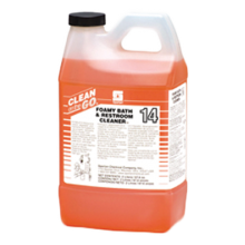 Spartan 4815 Clean On The Go Foamy Bath & Restroom Cleaner (132 Gallons) 4-2 Liters Per Case