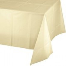 Northwest TBL 549IV 54x108 IVORY Plastic Table Covers 24/case