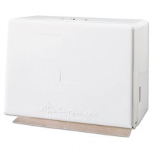 GP 56701 Single Fold White Steel Towel Dispenser
