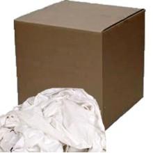 SCA 5WK50 Cotton White Knit Rags 50 Pound Per Case