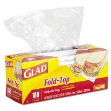 CLO 60771 Clorox Fold Over Top Sandwich Bags 12/180  Per Case