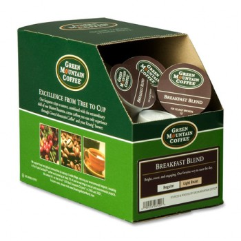 GMT 6520 Keurig K-Cups Green Mountain Breakfast Blend Coffee 24 Per Box
