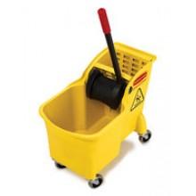 RCP 7380 YEL 31 Quart Tandem Bucket & Wringer Combo