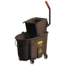 RCP 758088BN WaveBreak 35 QT Brown Bucket & Side Press Wringer Fits 12-32oz Mop Head