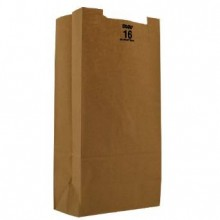 DRO 30916 16lb Heavy Duty Brown Bags 57lb 7 3/4 x 4 13/16 x 16 500 Per Bale