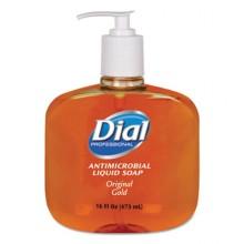 Dial 80790CT Liquid Antimicrobial Soap 12-16oz Pump Bottles Per Case