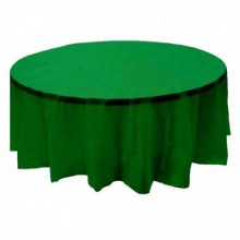 Northwest 84KG 84 Inch Round Table Cover Kelly Green 24/case