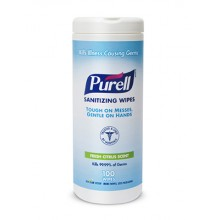 GOJO 911112CT Purell Sanitizing Wipes 12 Canisters 100 Sheets Per Case