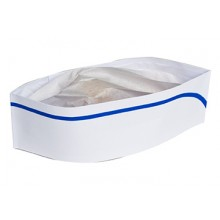 RPP RCC2BX White Overseas Hats w/ Blue Stripe 100 Per Box