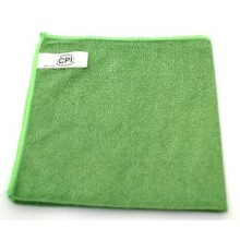 NUA NFCL16GREA Green Microfiber Cloth General Purpose 16 Inch  x 16 Inch Per Dozen