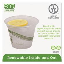 ECO EPCC9SGS 9 Ounce Green Stripe Renewable & Compostable Cold Cups 1000 Per Case