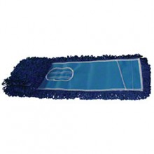 NUA NFDM36GREA Blue Washable Microfiber 5IN x 36IN Slip On Style Dust Mop Per Each