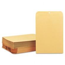 QUA 37890 Manila Clasp Envelope, 9 x 12, 28lb Brown Kraft 100 Per Box