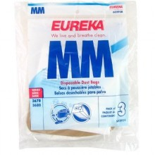 EUR 60295C6 Style MM High Filtration Vacuum Bags for SC 3683 3/Pack