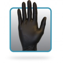 Safety Zone GNEPMDK Black Medium Powder Free Nitrile Gloves10/100 Per Case