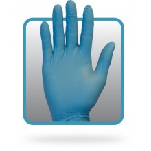 Safety Zone GNPRLG1M Blue Large Powder Free Nitrile Glove 100 Per Box