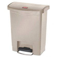 RCP 1883456 BEI Step-On Container Beige 8 Gallon