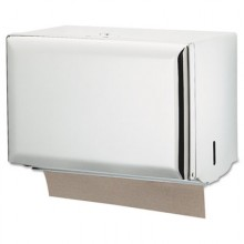 SJM T1800WH White Single-Fold Dispenser