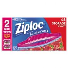 SJN 665015 ZIPLOC Double Zipper Quart Storage Bags 9-48 Per Case