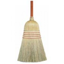 OCD 33028 Janitorial Black Handle Corn Brooms Per Each