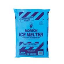 Morton Professional Grade Visible Blend Ice Melter Blended Ice Melt Compound Calcium Chloride, & Sodium Chloride 50LB Bag Melting Point -15 Below (49 Per Pallet) Per Bag