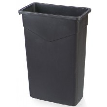 Carlisle TrimLine Black Waste Receptacle 23 Gallon Per Each