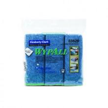 KCC 83620CTBlue Washable Microfiber Cloths 6 Cloths Per Bag 4 Bags Per Case